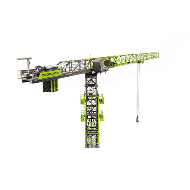 Hot ZOOMLION 10t 70m jib length Flat-top Hydraulic Tower Crane T7015-10E factory price