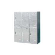 Stainless Steel Six Door Cabinet Locker