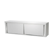 Cheap commerical kitchen designer handling in the wall stainless steel Two-door sliding wall cabinet