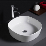 506 Wholesale white glaze cheap prices free standing porcelain bathroom basin for hotel