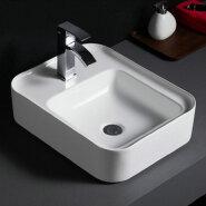 512 New arrivals rectangle white custom logo wash basin porcelain bathroom sink