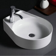 513 OEM single tap hole unique design hotel decoration porcelain hand wash basin
