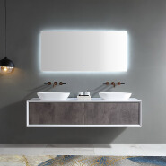 Double Counter Top Sink Wall Mounted Hanging Floating Bathroom Vanity Cabinet Manufacturer TW-2202