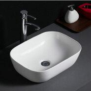 515 Promotional cheap freestanding white vitreous china hand washing basin