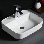 514 Classic sanitary ware rectangular table mounted ceramic vessel basins