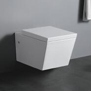 WP1004 European style pure white custom logo washdown ceramic wall hang toilet for hotel