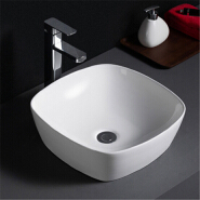 507 Hot selling european style pure white bathroom vessel sink for home hotel