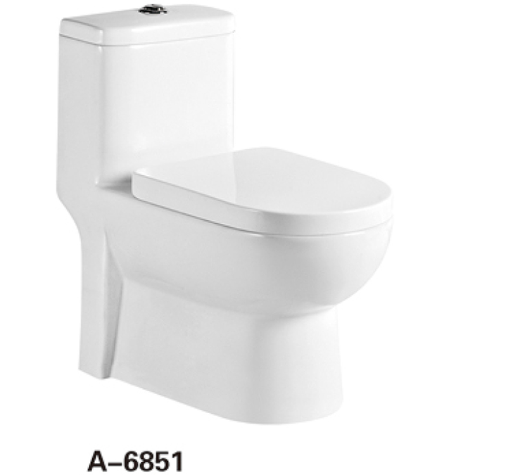 Bathroom Ceramic Siphonic one piece Toilet Closet Arabic Style A-6851