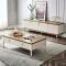 Small living room Italian light luxury TV cabinet high modern tea table furniture combination set