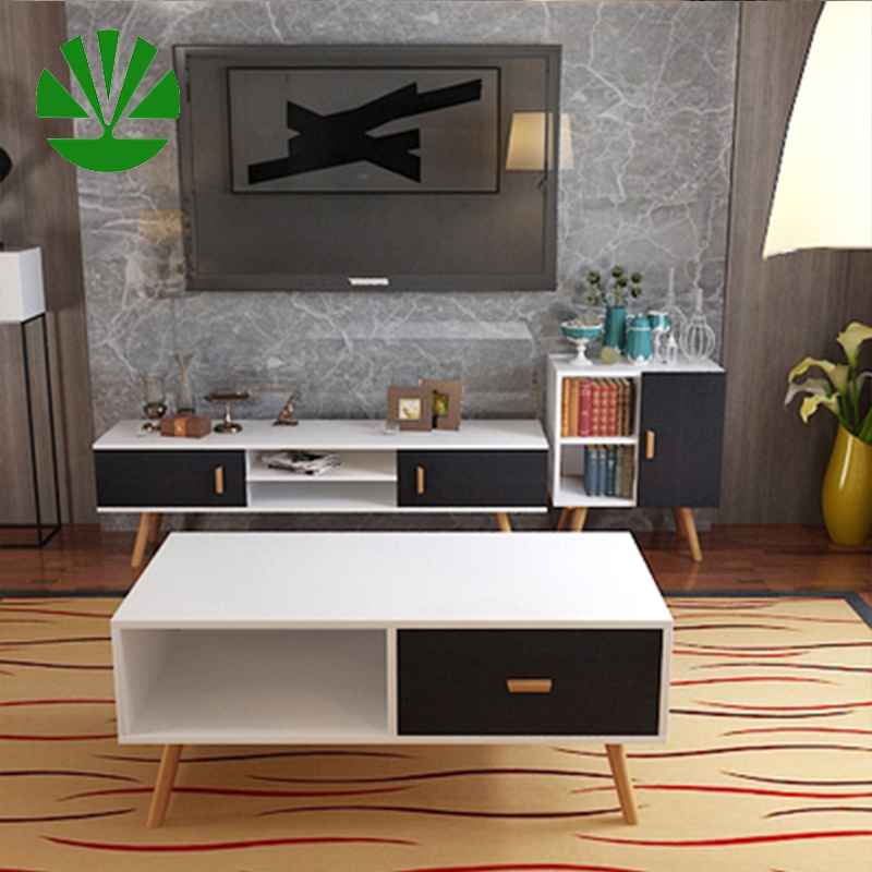 homemade modern led smart tv stand and coffee table