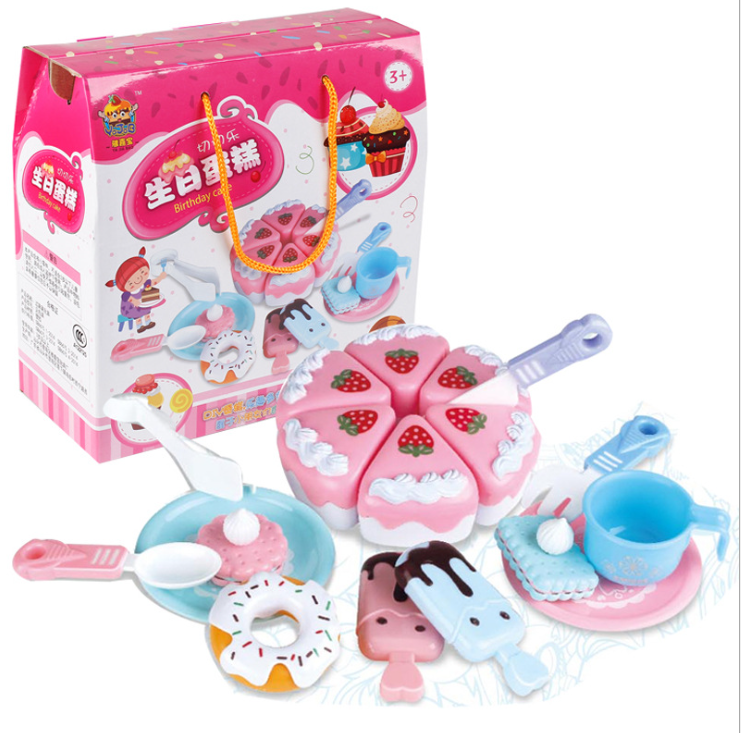 Hot Selling Play Plastic Cake Dessert Sweet Boutique Toy For Children Play Set Kitchen Toy