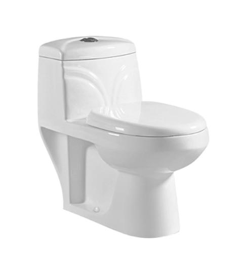 CheapBathroom Ceramic Toilet One Piece Siphonic Flushing water closet A-6807
