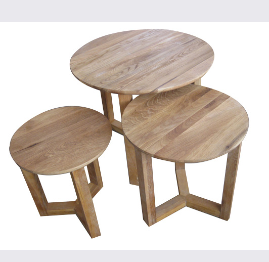 Living Furniture Natural material modern round nesting coffee tables