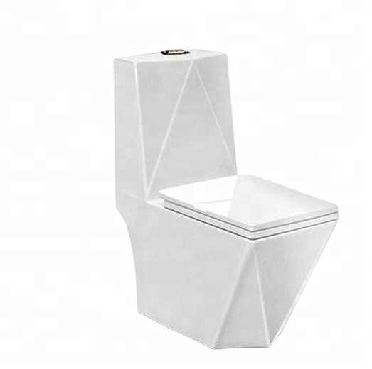 BM1027 Ceramic toilet Wash Down One Piece diamond shape bathroom toilet
