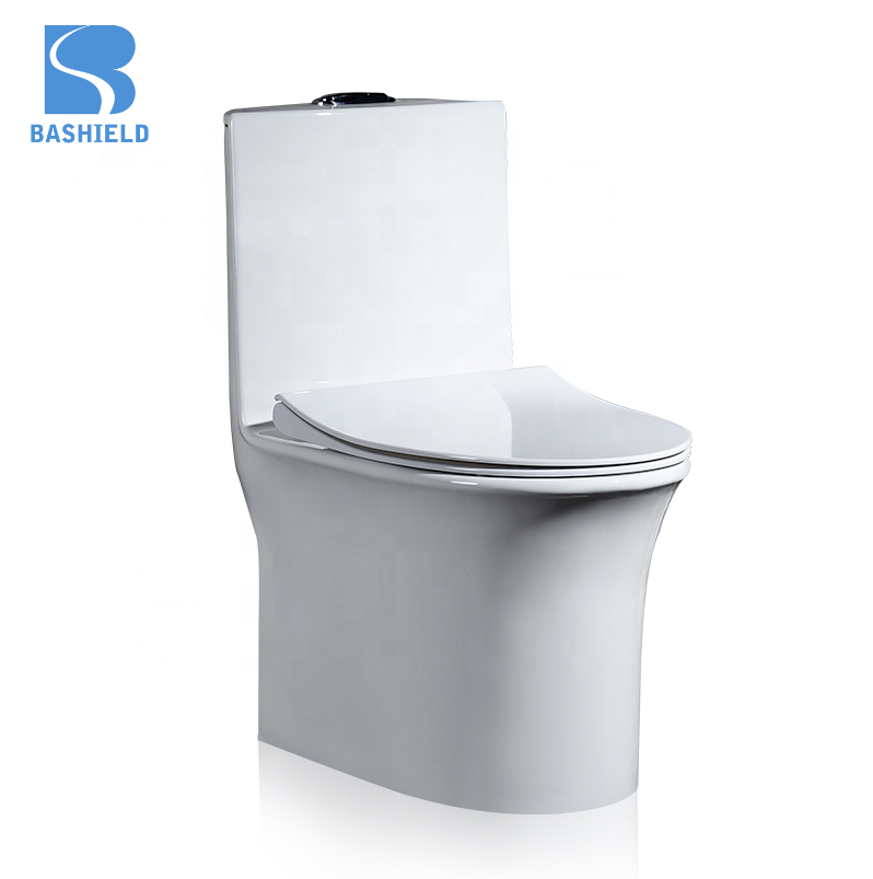 BM1020 factory price Bathroom Ceramic Sanitary Ware,large pipe design ,Toilet Siphonic One Piece