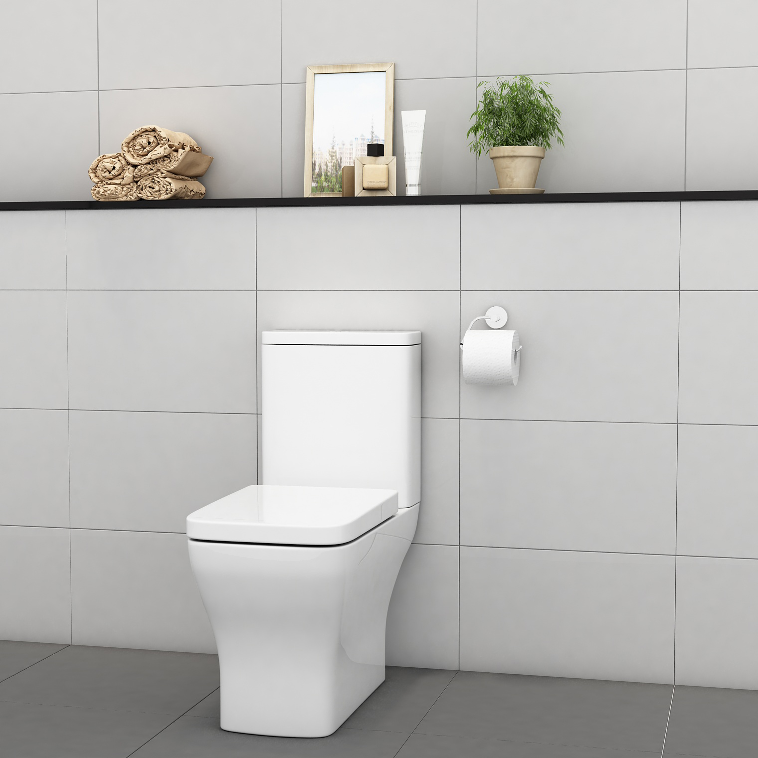 Manufacture Wholesale Wash Down Bowl Square Dual Flush Commode Wc Toilets Sanitary Ware Ceramic Two Piece Toilet