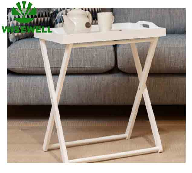 W-T-116 Factory price high quality professional coffee tea wood folding tray table