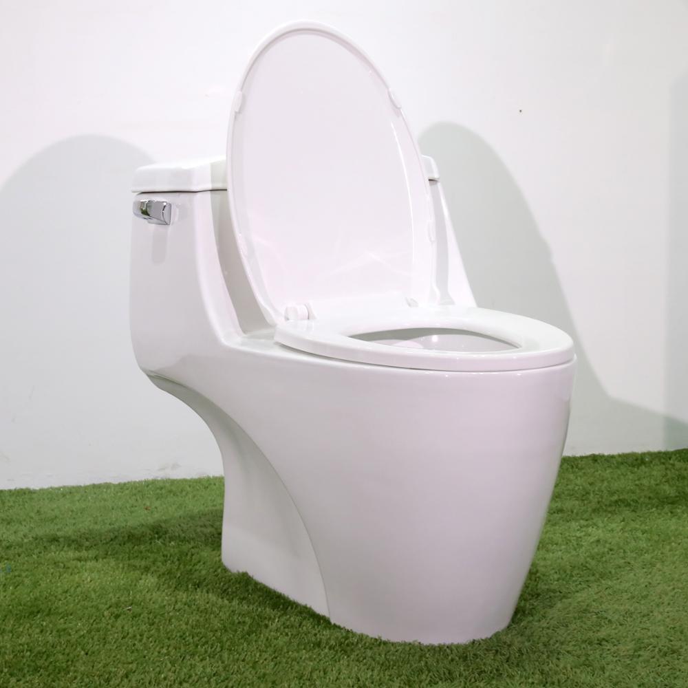 BM1026 Toilet S-trap White Ceramic One Piece Siphon Bathroom Sanitary Ware