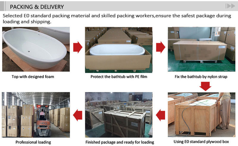 T&W Freestanding Acrylic Bathtub packing and delivery.jpg