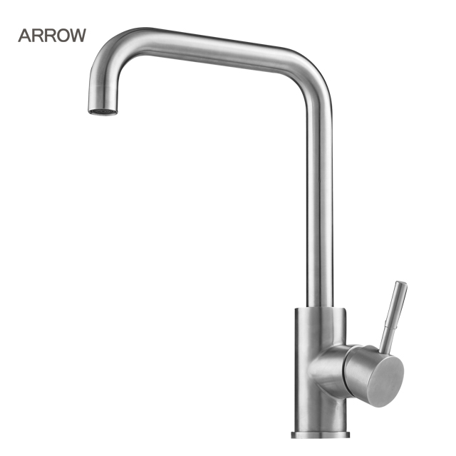 ARROW brand Cold hot water brushed ceramic valve water stream kitchen sink 304 stainless steel faucet