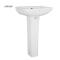 ARROW brand Wholesale Supply floor mounted glossy glazed pedestal sink ceramic bathroom hand wash basin for public