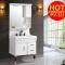 2018 Hangzhou Cheap Floor Standing PVC Vanity Plastic Bathroom Cabinet