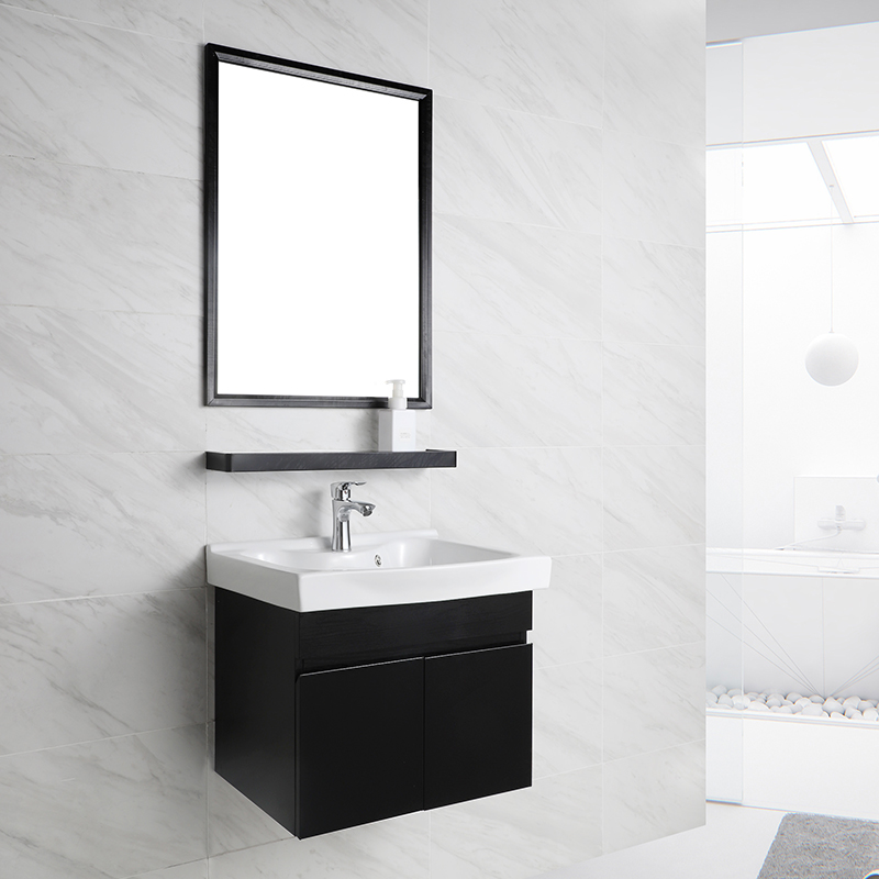 Factory Wall Mounted Waterproof Stainless Steel Bathroom Cabinet with Wash Basin T-5001