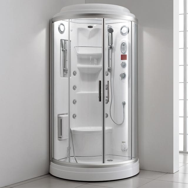 ARROW branded Luxurious arc shape 6mm glass thickness computer wet steam shower cabin