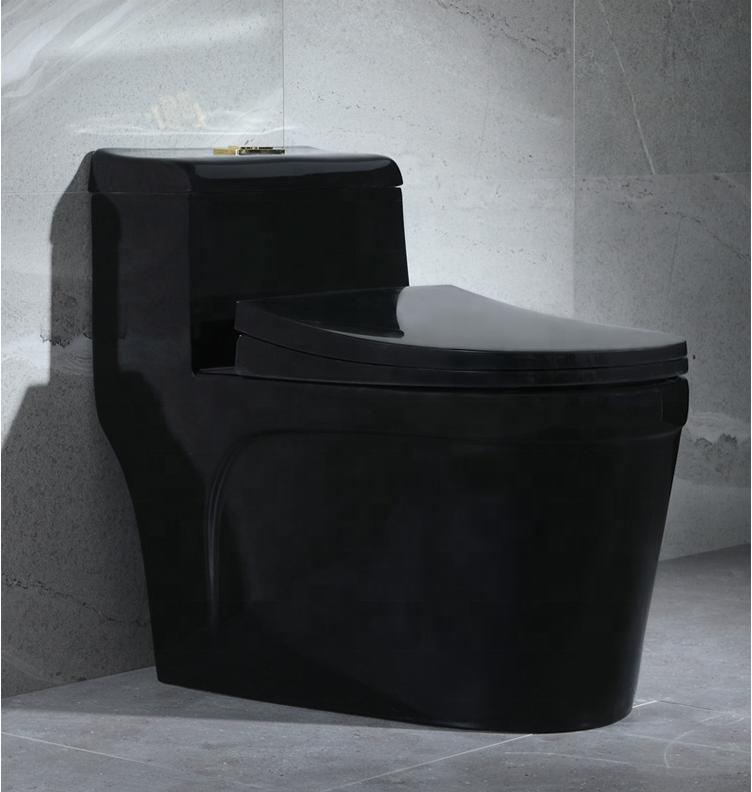 A-6850-B NEW DESIGN ALL BLACK BATHROOM ONE PIECE CERAMIC WATER CLOSET