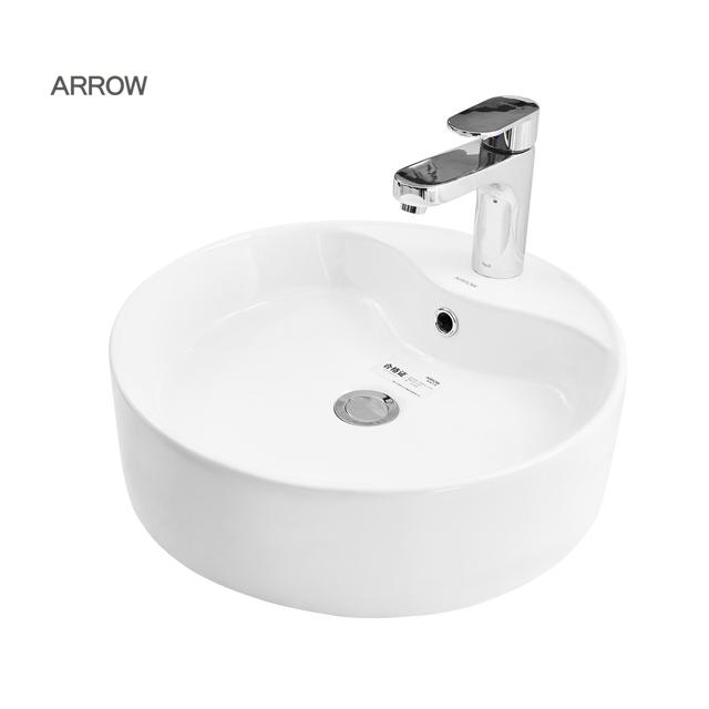 ARROW brand Modern Sanitary Wares White Bathroom Above Hair Wash Shampoo Counter Ceramic Art Basin