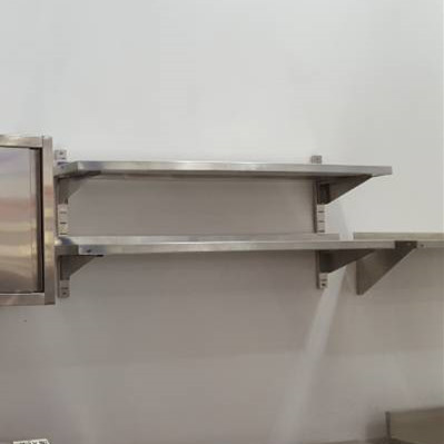 Factory Manufacturer Stainless Steel Kitchen 2-tier Wall Shelf