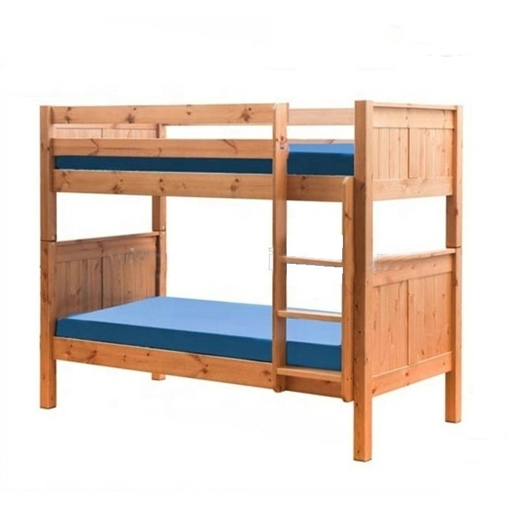 W-B-0083 solid wood adult double bunk bed
