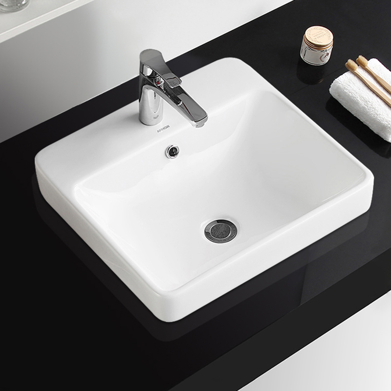 Hand Sizes Standard Height for Wash Small Size Bathroom Design Ceramic Cabinet Cabinets Wash Basin Table Top