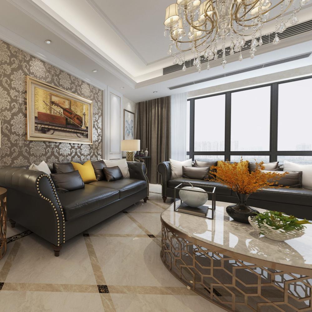 800*800mm Beige Tile Indoor Outdoor Porcelain floor tiles Glazed tiles Elegant style interior
