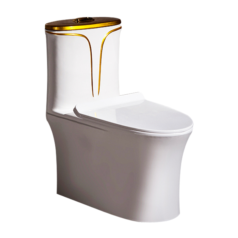 458 GILDED ONE PIECE CERAMIC WATER CLOSET WITH PURPLE BLACK GOLDEN AND OTHER CUSTOMIZED COLORS