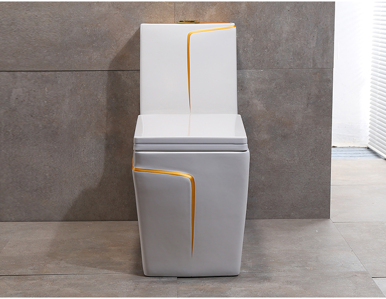 560 GILDED ONE PIECE CERAMIC WATER CLOSET WITH PURPLE BLACK GOLDEN AND OTHER CUSTOMIZED COLORS