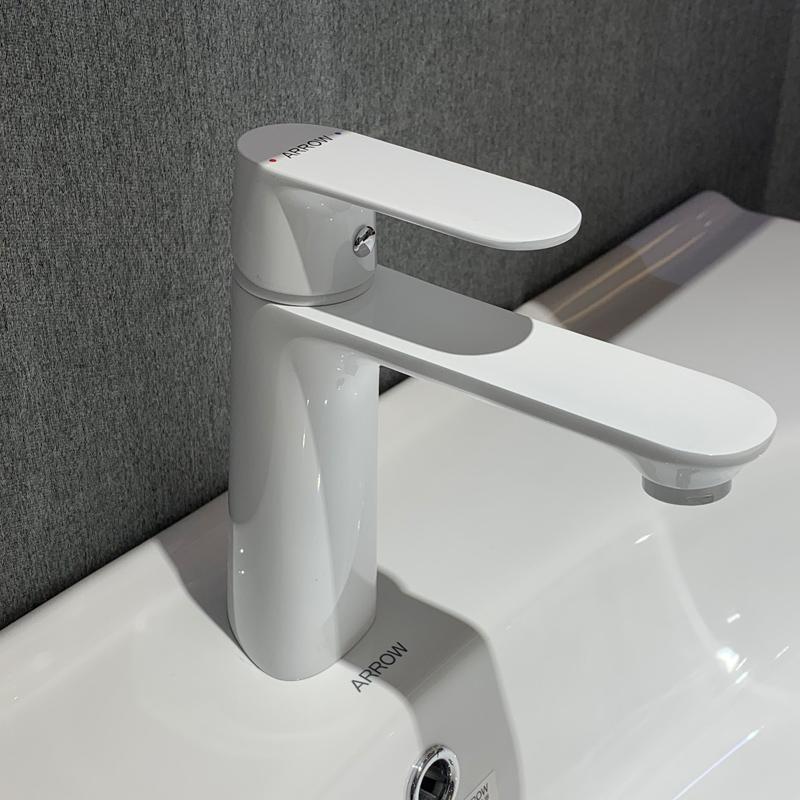 ARROW White Faucet Basin Water Tap Design Mixer Heater Modern Single Handle Waterfall Taps