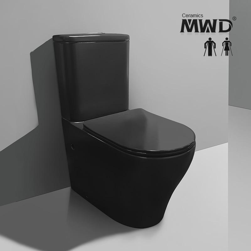 Black toilet urea seat cover 3/4.5L wels matte finish