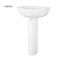 ARROW brand Modern Design living room white chinese ceramic hand hair wash pedestal basin