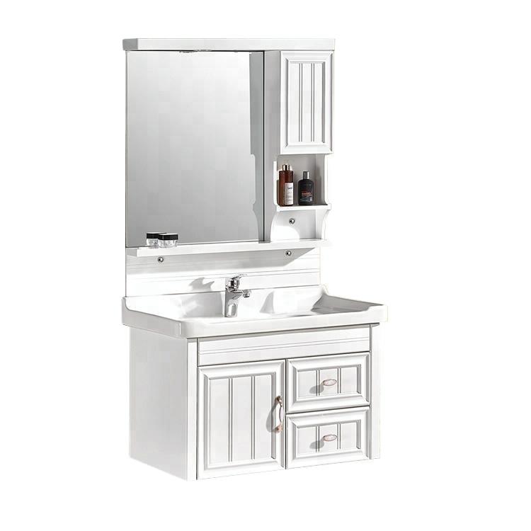 indian PVC cabinet plastic bathroom vanities sets