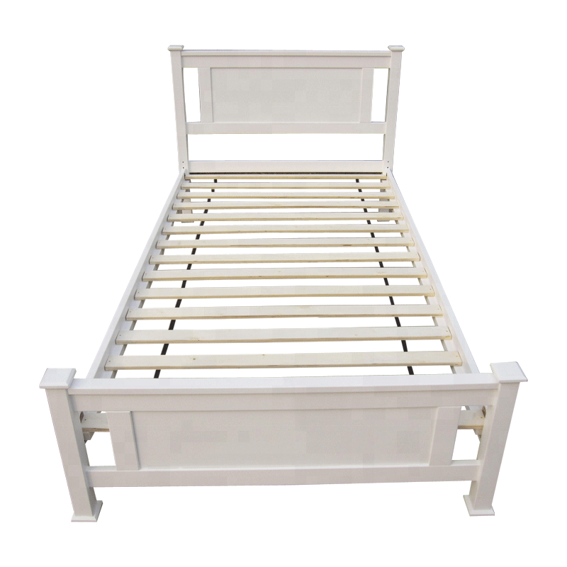 Simple Designs Modern Solid Wood Single Bed