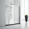 ARROW Brand Foshan manufacture translatioanal 8mm thick bend tempered sliding glass shower door