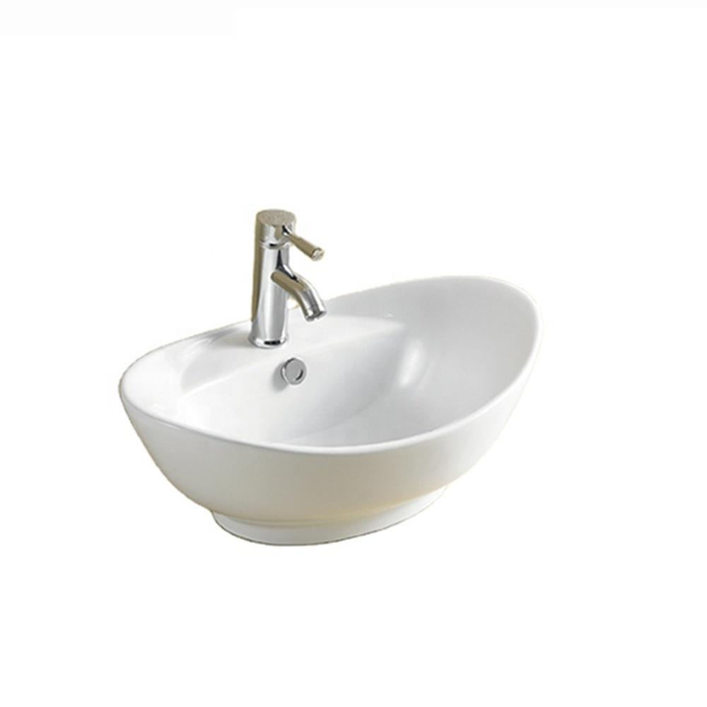 First-8001 Oval White Luxury Designs Ceramic Lavabo Bathroom Sinks Wash Basin