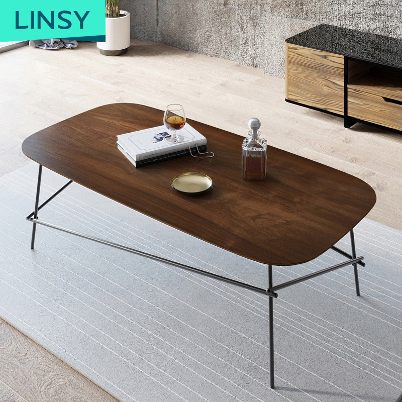 Simple Modern Designer Stainless Steel Legs Coffee Table Sets