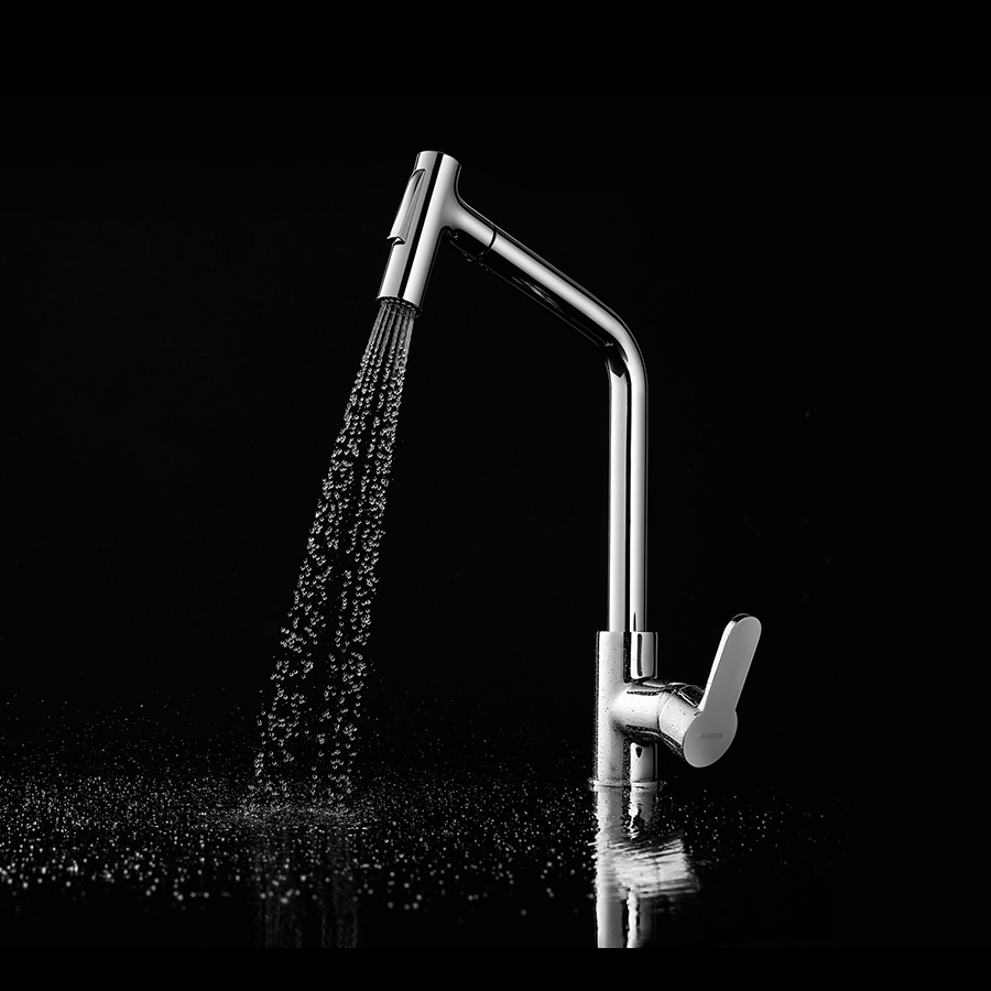 Out Tap Sink Water Pull Down Kitchen Faucet