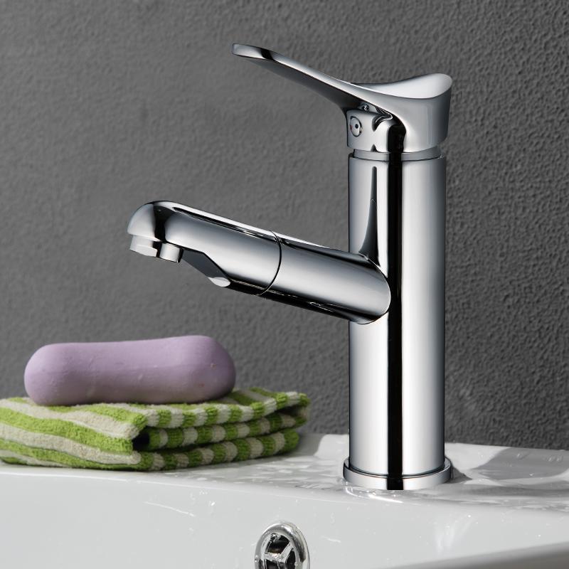 Tap Basin Pillar Modern Water Faucet Lavatory Designer Brass Taps