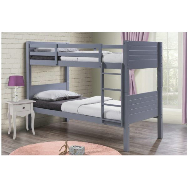 WJZ-711 Wooden Kids Grey children twin Bunk Bed