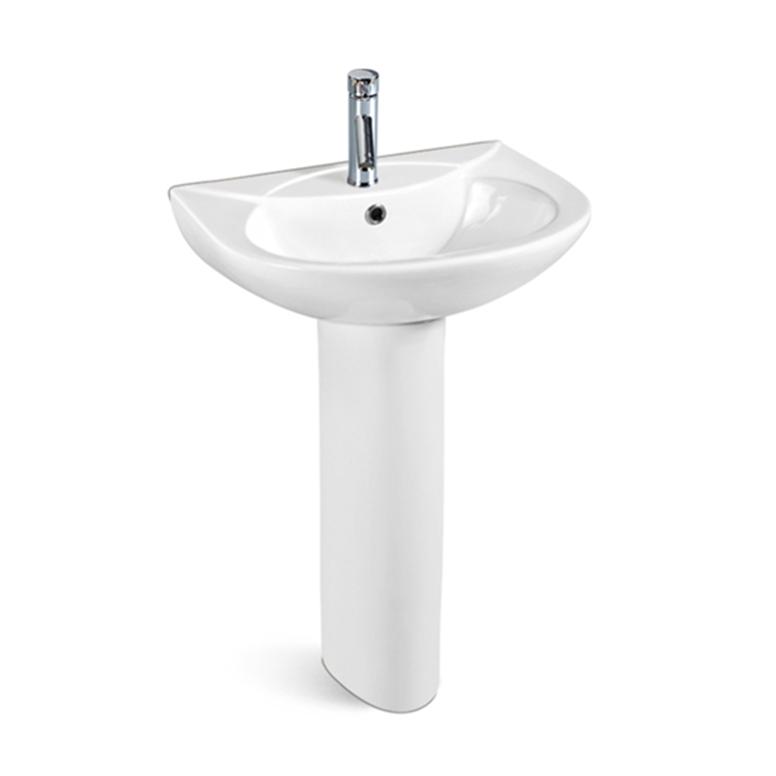 First-B104 White Luxury Designs Ceramic Lavabo Bathroom Sinks Pedestal Wash Basin
