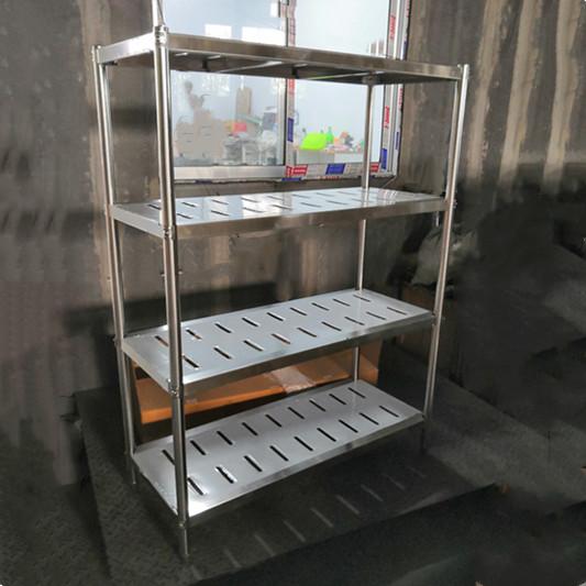 Restaurant Kitchen Stainless Steel Storage Rack/ 4 Tiers Stainless Steel Kitchen Shelf