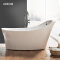 Soaking Bathtub Japanese Freestanding Acrylic Free Standing Fiber Clear Waterfall Spa Tub